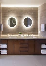 bathroom cabinet mirror light with contemporary double vanity