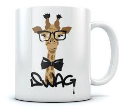 swag hipster giraffe coffee mug tea cup cool gift idea