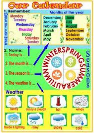 85 free esl calendar worksheets