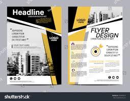 yellow flat modern brochure layout design stock vector 478344619