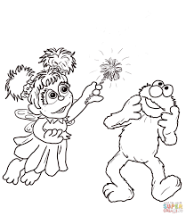 abby cadabby and elmo coloring page free printable coloring pages
