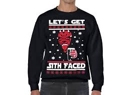 sweater wars wars sweater lets get sith faced at amazon