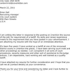 bailiff cover letter 172 best images about cover letter awesome