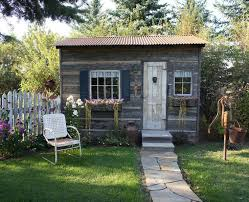 Backyard Office Building Backyard Ideas She Sheds Green Lawn Rustic Style And Lawn