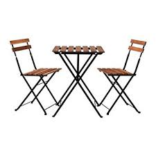 Folding Bistro Chairs Ikea Outdoor Foldable Bistro Table And 2 Chairs Black