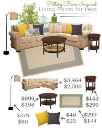 pottery barn inspired living room look saving dollars u0026 sense