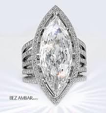 marquise diamond engagement ring custom open frame octopus ring bezambar