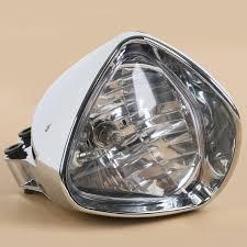 honda magna chrome plated cobra headlight light for honda magna steed shadow