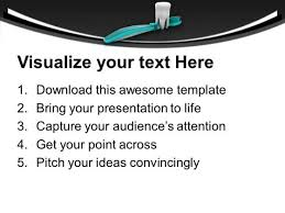 pay your attaintion to oral hygiene powerpoint templates ppt