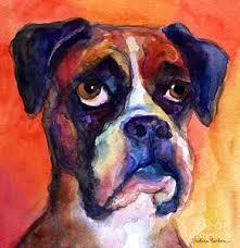 boxer dog in heaven boxer dog paintings fine art america