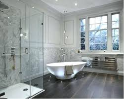 Wood Floor Bathroom Ideas Bathrooms With Wood Floors The Brown Wood Flooring Design