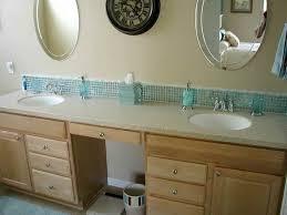 Mosaic Vanity Backsplash Fail Bathroom Pinterest Backsplash - Bathroom vanity backsplash ideas