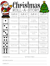 christmas roll a story freebie holidays in the classroom