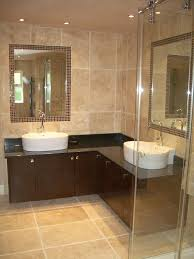 barely beige bathroom brown wooden vanity with drawers cool beige bathroom window pool wall white ceramics