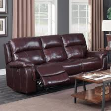 Power Sofa Recliners Leather by Happy Leather Company 1387a Power Sofa With Nailhead Trim Royal