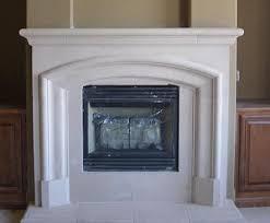 Faux Limestone Fireplace - cast stone fireplace mantels pre cast surrounds fireplace