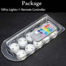 10pcs lot small led waterproof submersible vase light mini lights