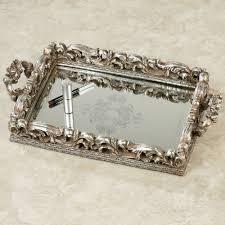Antique Vanity Mirror Elaine Antique Silver Mirrored Vanity Tray