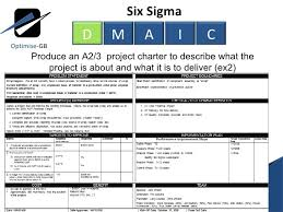 dmaic report template six sigma project charter template fresh impression lean toc using