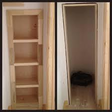 Hidden Room Rolling Bookshelf Door Conceals Secret Gun Closet Hideaway Guns