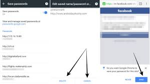 how to save to android how to manage your saved passwords in chrome for android android