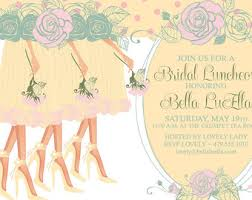 bridesmaid luncheon invitations bridal luncheon etsy
