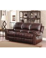 abbyson living bradford faux leather reclining sofa amazing spring savings on abbyson skyler cognac red leather