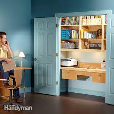 how to turn a closet into an office closet doors shelving and