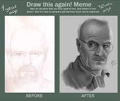 draw this again meme walter white by gliger on deviantart