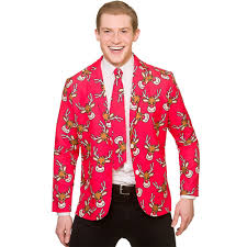 christmas suit christmas suit jacket tie matching novelty adults fancy
