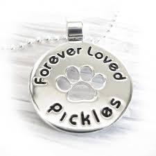 Personalized Memorial Necklace Paw Prints Pet Memorial Necklace Personalized Name With Paw