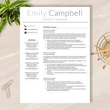 modern word resume templates resume template cv template for word pages no 003 modern resume template cv template for word pages no 003