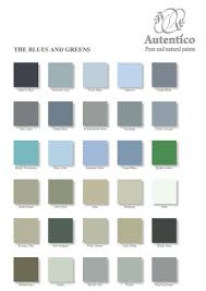 blues and greens colour chart by autentico no prep paint buy
