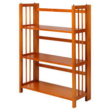 interior living room decoration with wooden folding bookcase