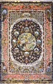 Rug 7x10 Tabriz One Of A Kind Silk Persian Rug Item Pa 1071