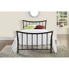 Twin Bed Frame And Headboard Dhp Bali Bronze Twin Bed Frame 3235098 The Home Depot
