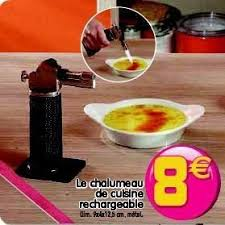 chalumeau pour cuisine gifi promotion le chalumeau de cuisine rechargeable produit