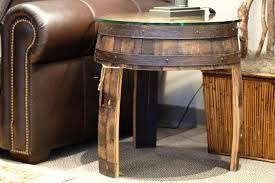 whiskey barrel side table coffee table staggering whiskey barrel coffee table pictures