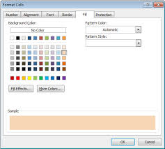 ms excel 2010 change the background color of a cell