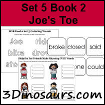 3 dinosaurs early reading printables bob books 4