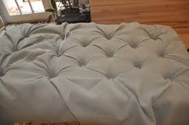 Diy Tufted Storage Ottoman Handmade Diy Square Tufted Ottoman Bench With Gray Fabric Cover