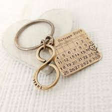 8th anniversary gifts for bronze anniversary keychain bronze gift 8th anniversary 19th