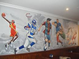 sports murals for bedrooms large wall mural sports stars 289 00 large wall mural sports