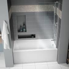 Lucite Bathtub Muse 60 Inch Acrylic Alcove Bathtub With Right Hand Drain