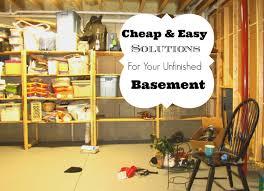 Design Your Basement Unfinished Basement Storage Ideas Racetotop Com
