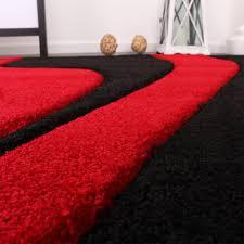 designer rug bedroom runners set of 3 modern red black