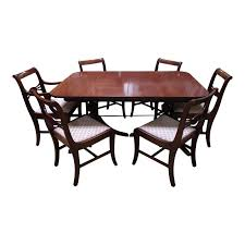 double pedestal dining table with 6 chairs design plus gallery
