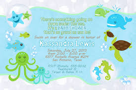 Baby Shower Invitations Card Top 14 Under The Sea Baby Shower Invitations Which Viral In 2017