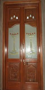 Pooja Room Single Door Designs With Glass