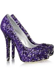 Wedding Shoes Purple Wedding Shoes Tuesday Shoesday Purple Sequined Love By Dolce